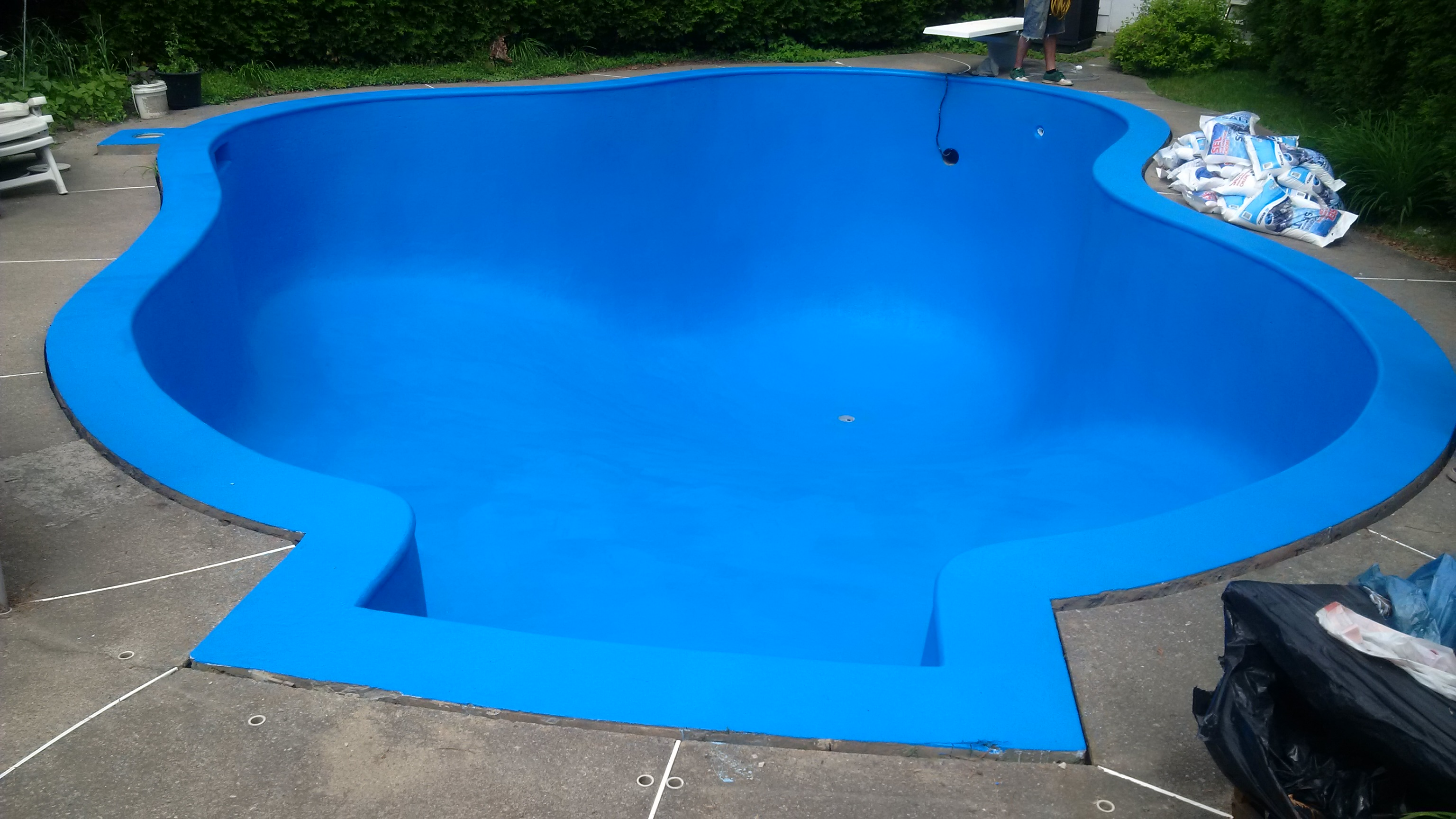 R novation r paration de piscine jf piscines for Peinture piscine beton