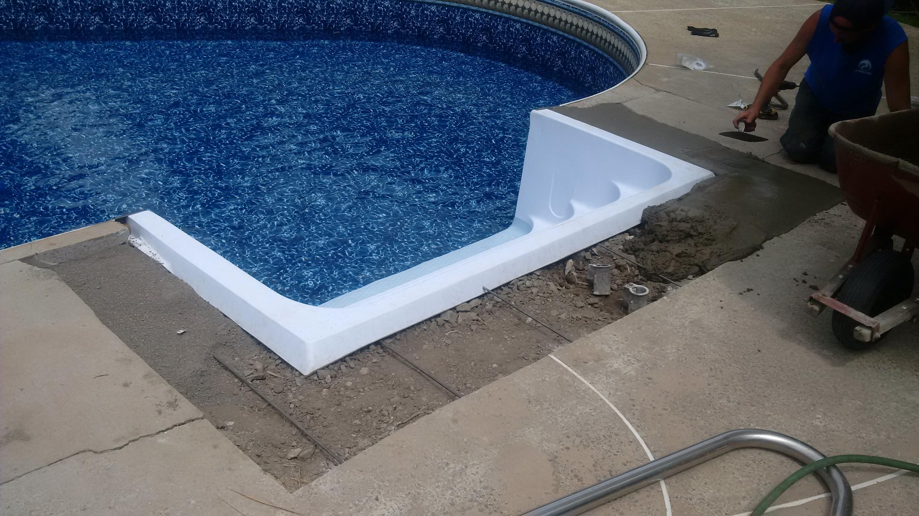 R novation r paration de piscine jf piscines for Marche piscine beton