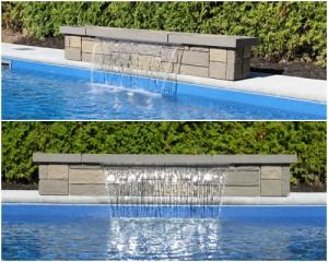 Chutes d 39 eau pour piscine creus e jf piscines for Piscine x eau cognac
