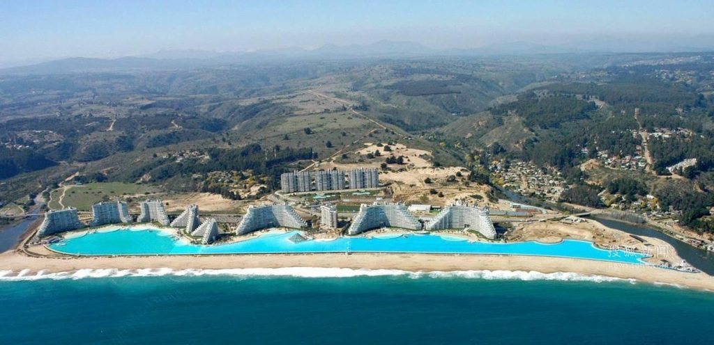 Largest Pool In Chile >> The World S Largest Pool Is In Chile Jf Piscines